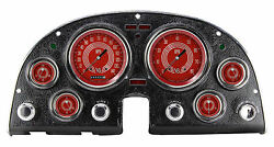 Classic Instruments Chevy Corvette 63-67 Package V8 Red Steele Series Co67v8rs