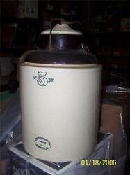 Early 20th Western Stoneware 5 Gallon Canning Crock Monmouth, Il