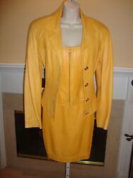 Stunning, Super Rare New 3 Piece Anne Klein Leather Skirt, Vest And Jacket Suit