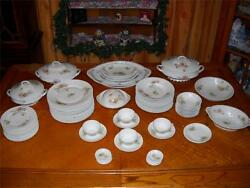 Set Of 49 Antique Victoria Carlsbad Austria Victorian Porcelain - Immaculate
