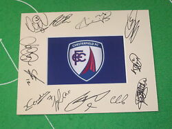 Chesterfield Fc Mount Multi-signed X Twelve 2014/15 First Team Squad