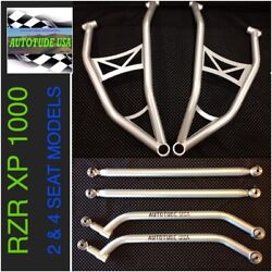 Chromoly Arched A-arms And Rear Radius Bars 2014-2016 Rzr Xp 2/4 1000 Xp1k Silver