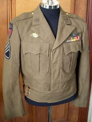 Beautiful Cbi-made Wwii Usaaf Aircrew Ike Jacket With Theatre-made Wing