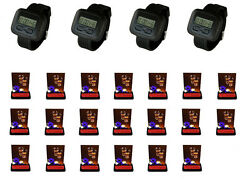 Singcall Wireless Waiter Calling System For Coffee Shop,20 Pagers And 4 Watches