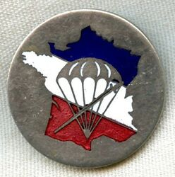1944 1st Bn Parachutiste De Choc French Forces Of The Interior Badge By Berchot
