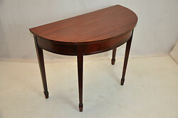 Large Vintage Sheraton Style Mahogany Demi Lune Hall Table, Excellent Condition