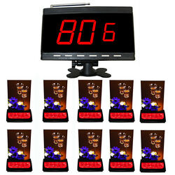Singcall Wireless Call Systems 10 5-buttons Restaurant Table Bells 1 Receiver
