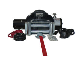 Engo 10k 12volt Electric Winch Model Sr10 Fairlead And Remote For Jeep Toyota Ford