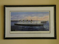 Four Framed Prints, Titanic And Carpathia, S.w.fisher, Limited Edition, Signed