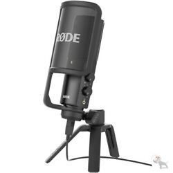 Rode NT-USB Studio Quality USB Condenser Microphone w Desk Stand