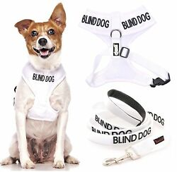 BLIND DOG New Vest Non Pull Harness Front Back Clip Waterproof padded with Leash