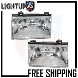 Headlights Headlamps Pair Left right set for 92-94 Ford Tempo Mercury Topaz