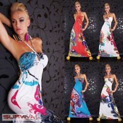 NEW SEXY WOMENS HALTER NECK COCKTAIL FLORAL DRESS LADIES SIZE 8 10 HOT EVENING AU $29.97