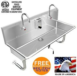 Hands Free Sink 2 Users 48 Elec F. 1-1/2 Twist Handle Waste Valve Made In Usa