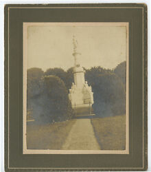 Monument At Gettysburg National Cemetery Vintage Photo