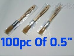 100 Of 1/2 Chip Brush Brushes Perfect For Adhesives Paint Touchups