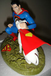 Dc Comics Superboy And Krypto Statue 470/1000 2004 Maquette From Superman Bust