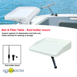 Oceansouth Bait And Fillet Table Rod Holder Mount - Boat / Fishing / Cutting