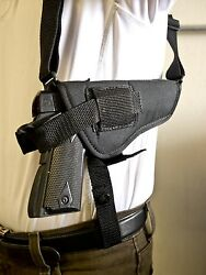 Tokarev Tt 30 And Tt 33   Horizontal Shoulder Holster W/ Double Mag Pouch