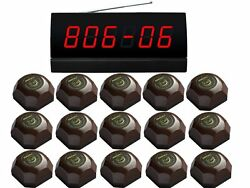 Singcall Wireless Service Calling System For Cinema Table Pager Display 15 Bells