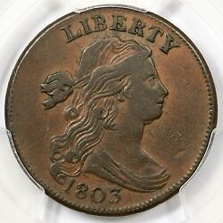 1803 S-247 Pcgs Xf 40 Sm Date Sm Frac Draped Bust Large Cent Coin 1c