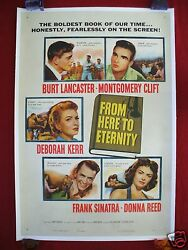 From Here To Eternity 1953 Original Movie Poster 1sh Linen Backed Frank Sinatra