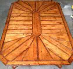 Henredon Set Distressed Coffee Table W/matching End Table