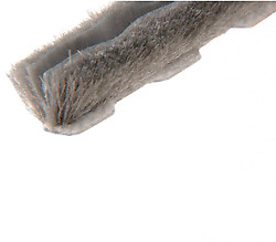 L Zipper Pile Weatherstrip .187 Backing - .160 Pile Height - 100and039 Roll