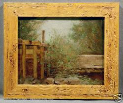 John B Bristol American Countryside Study Featuring Fence Trees And Rocks