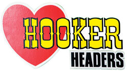 Hooker Headers Decal Sticker Adhesive On Back