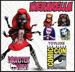 Monster High Power Ghouls Set Sdcc Webarella Toralei Spectra Clawdeen And Frankie