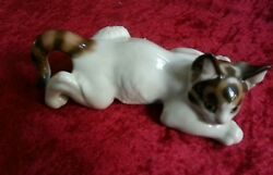 Rosenthal Germany Crouching Cat  Figurine by Prof T Karner