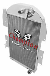 Champion Cooling 3 Row Radiator For 34-36 Chevy Pickup For V8 Small Block