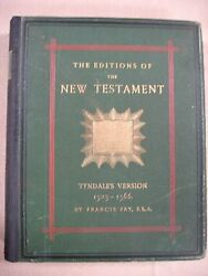 1878 Editions Of The New Testament - Tyndale By Francis Fry - Bible -wvb-8