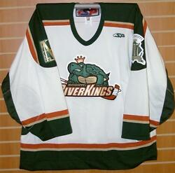 Mississippi Riverkings Chl Authentic On Ice Game Issued White Hockey Jersey 58