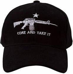Black AR 15 Machine Gun NRA Rights M4 Come and Take it Baseball Style Cap Hat