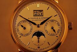 A Lange & Sohne 330.032 Saxonia Annual Calendar Moonphase 100% new with tag