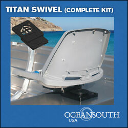 Boat Seat Swivel Removable For Aluminum Benches On Jon Boats Complete Kit