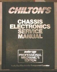 1986 Chassis Electronic Chilton Service Auto Repair Manual Book Shop Motor