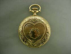 Elgin 14k Yellow Gold Vintage Hunting Case Pocket Watch