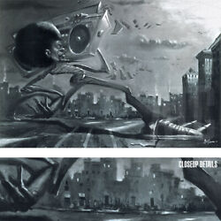 36wx24h Boom Box By Justin Bua - Ghetto Music Dance Strut Choices Of Canvas