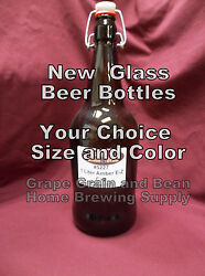 New Beer Bottles, Your Choice In Size And Color. Glass Beer Bottles