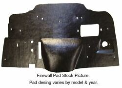 1969 1970 Mercury Manual Transmission Firewall Pad With Ultra High Def Rubber