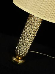 Pair Mercury Bubble Tall Cylinder Form Mid Century Retro Table Lamps Regency