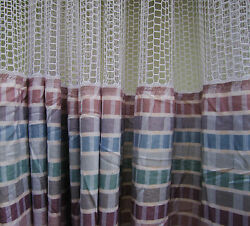 LOT OF 4 - (Pattern A) - HOSPITAL PRIVACYCUBICLE CURTAINS - FLAME RETARDANT -