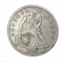 Rare Key Date 1841 Seated Liberty Silver 1 One Dollar Ngc Au 53 Certified Coin