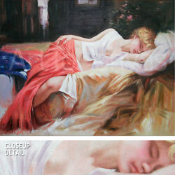 47wx35h Daydream - Pino Daeni-style Oil Painting Reproduction On Canvas