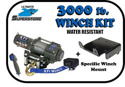 Kfi 3000 Lb. Winch Mount Kit And03902-and03908 Yamaha Grizzly 660