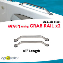 Oceansouth Two Boat Grab Rails 18 X 7/8 Stainless Steel