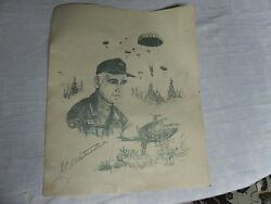 General William Westmoreland Signed Print By Bates 1326/1400 101st Airborne